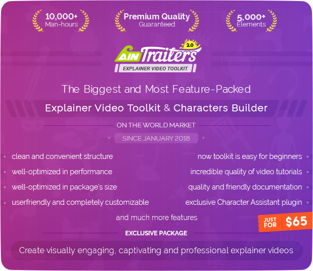 AinTrailers | Explainer Video Toolkit with Character Animation Builder - 7