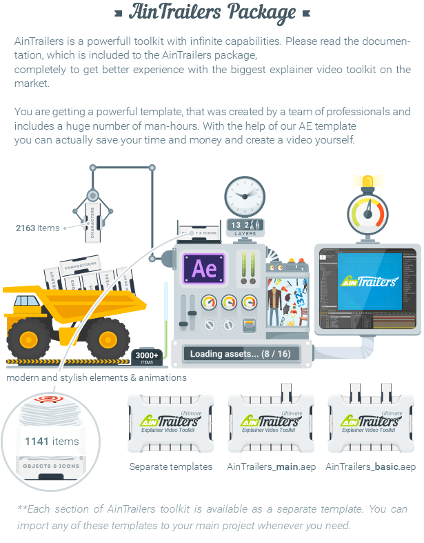 Videohive - AinTrailers - Ultimate Explainer Video Toolkit V 1.3 18950108  - Free Download